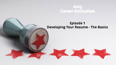 Vlog – Episode 1 – Developing Your Resume