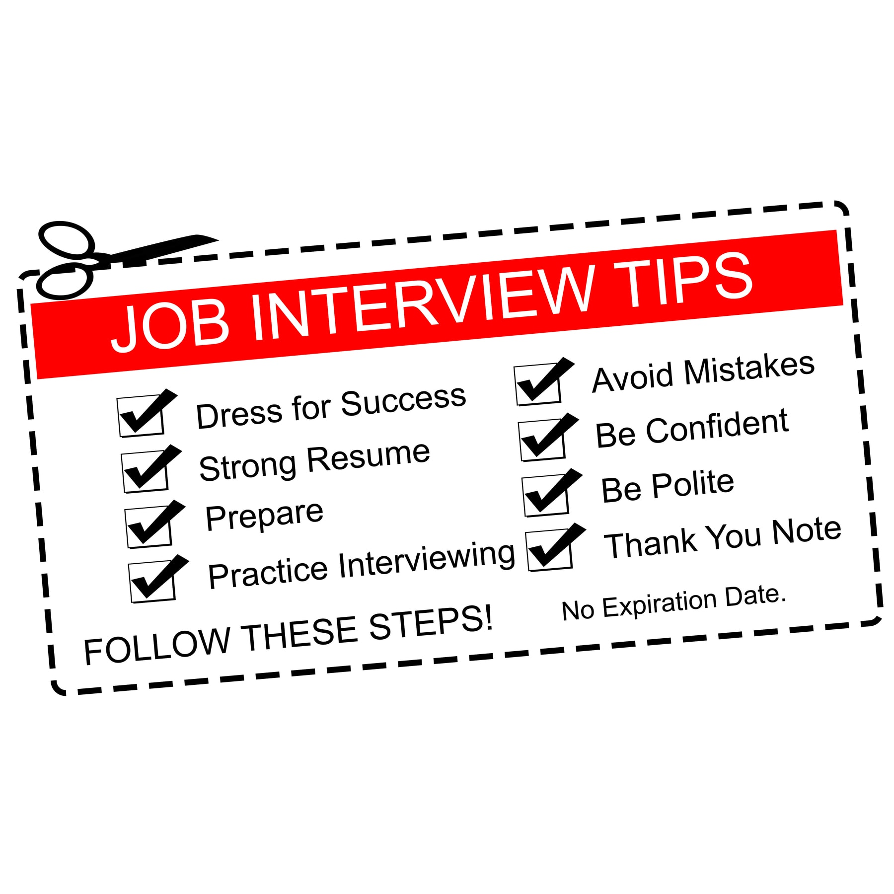 Red Job Interview Tips Coupon