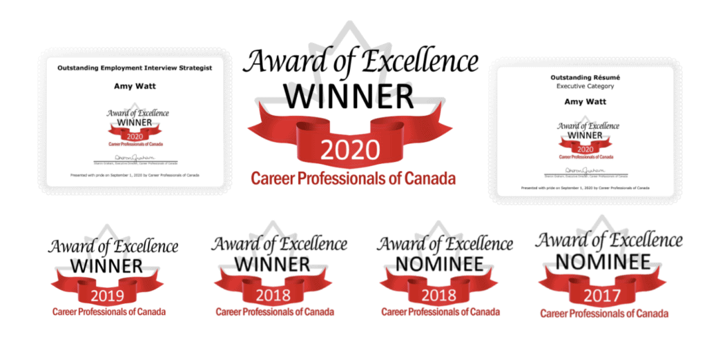 Award of Excellent Winner 2020, 2019, 2018, 2017 - Career Professionals of Canada