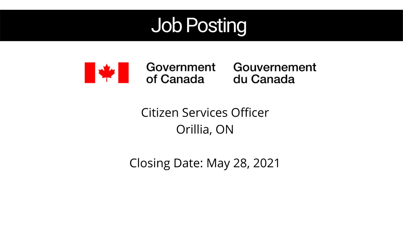 Citizen Services Officer