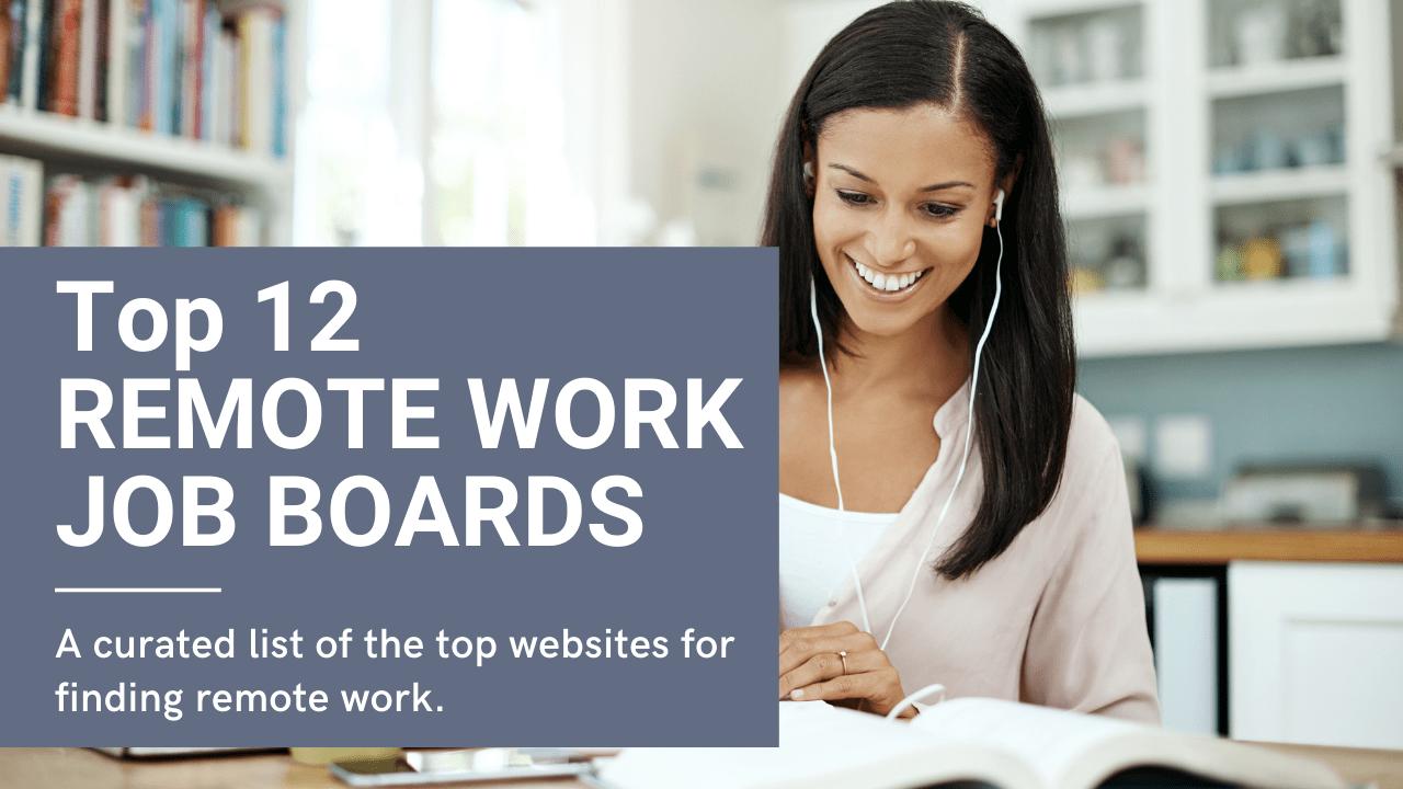 Top 12 Remote Work Job Boards